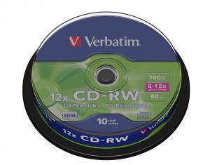 CD-RW 8-12x 700MB 10P CB 43480