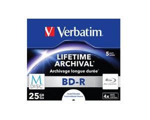 M-DISC BD-R 4x 25GB 5P JC Printable 43823