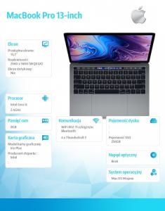 MacBook Pro 13 Touch Bar: 2.4GHz i5/8GB/256GB - Space Grey