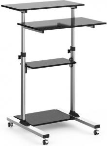 Uniwersalny stolik prezentacyjny do notebooka z 4 półkami regulowany