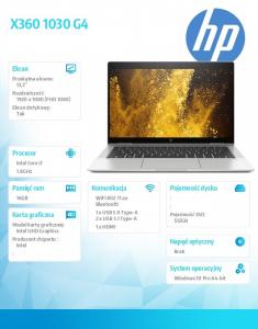 Laptop EliteBook X360 1030 G4 i7-8565U 512/16G W10P 13,3cala 7KP71EA