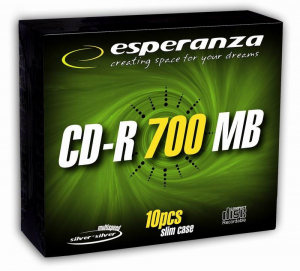 CD-R Silver 700MB x56 - Slim 10