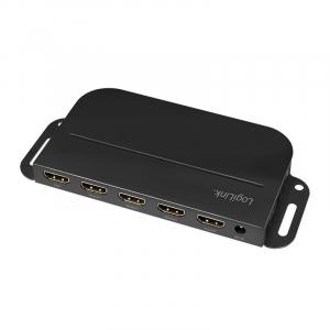Splitter 1 do 4x HDMI 2.0b 4K, z uchwytem montażowym