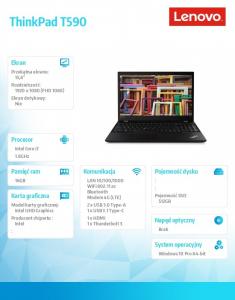 Laptop ThinkPad T590 20N4004WPB W10Pro i7-8565U/16GB/512GB/INT/LTE/15.6 FHD/Black/3YRS OS