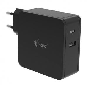 Uniwersalny zasilacz sieciowy USB-C 60W Power Delivery, 1x USB-C port 60W, 1x USB-A port 12W