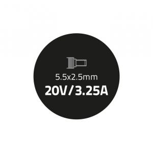 Zasilacz do laptopa 65W | 20V | 3.25A | 5.5*2.5