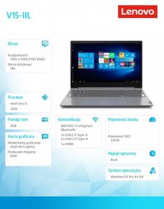 Laptop V15-IIL 82C50026PB W10Pro i5-1035G1/2x4GB/512GB/INT/15.6 FHD/Iron Grey/2YRS CI