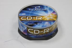CD-R TITANUM 700MB x52 CAKE BOX 25