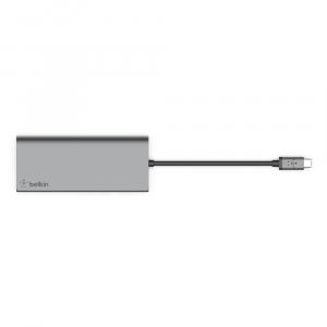 Multimedia Hub USB-C 17cm srebrny