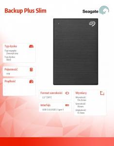 Backup Plus 1TB 2,5 STHN1000400 Black
