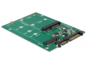 Adapter SATA 22PIN -> M.2 NGFF+MSATA COMBO