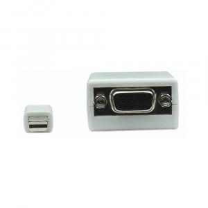 Adapter Mini DisplayPort męski na VGA żeński, biały, 15cm