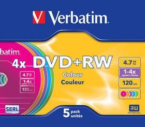DVD+RW 4x 4.7GB 5P Color