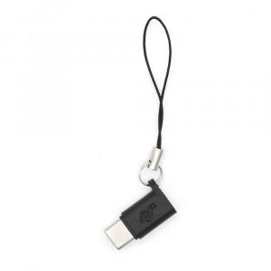 Adapter Micro USB - USB C czarny