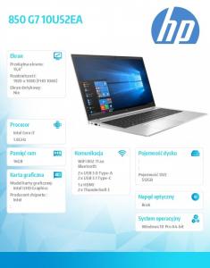 Notebook 850 G7 i7-10510U 512/16/15,6/W10P 10U52EA