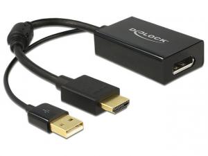 Adapter HDMI(M)+USB(Power)->Displayport 1.2(F) 24cm