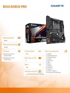 Płyta główna B550 AORUS PRO AM4 4DDR4 HDMI M.2 ATX