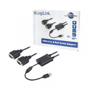 Adapter USB 2.0 do 2x port szeregowy