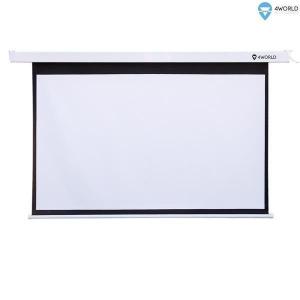 Ekran Projekcyjny z Pilotem Elektryczny Ścienny/Sufitowy 195x146.2cm, 96 (4:3) Matt White