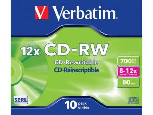 Płyty CD-RW 12x 700MB 10P JC 43148