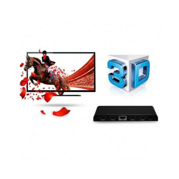 Rozdzielacz-splitter AV HDMI 2.0 1/4 Ultra HD 4Kx2K 3D